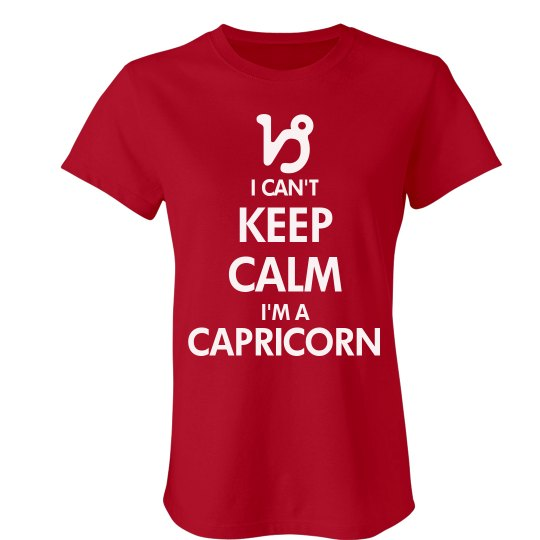 5d6dba8a Keep Calm Capricorn Ladies Slim Fit Favorite T-Shirt