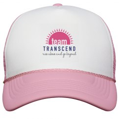 Team Transcend Trucker Hat - pink logo