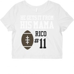 Football Mom Crop Top