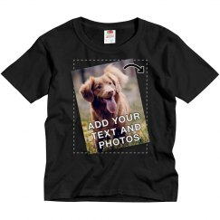 Upload A Photo To A Kids Tee