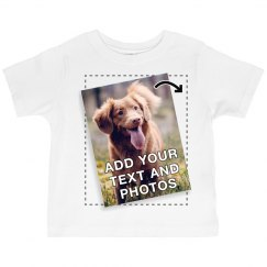 Custom Printed Photo Toddler Tee
