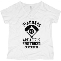 Diamonds, a Girl's Best Friend Curvy Tee
