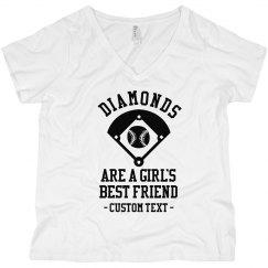 Diamonds, a Girl's Best Friend Curvy Tee