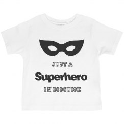 Toddler Just a Superhero in disg