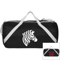 Zebra Duffle Bag