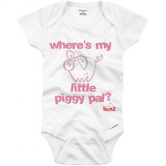 infant piggy pal onesie