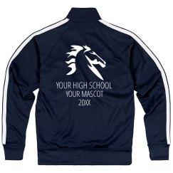 Custom School Mustang Mascot Jacket