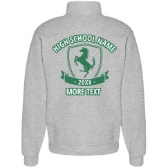 Custom Back High School Mustangs Sweatshirt