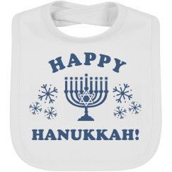Baby Bib Happy Hanukkah