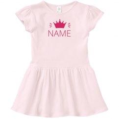 Crowned Custom Name Dress