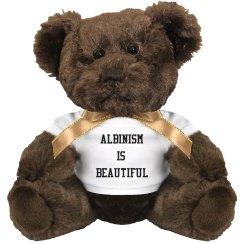 Albinism Is Beautiful- White Teddy Bear