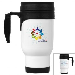 "Stainless Steel Mug ""Love Heals"""