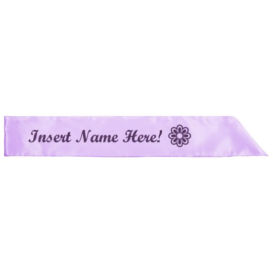 create your own design Personalised Girls Birthday Sash in Pink