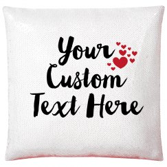 Add Your Text Custom Hearts Pillow