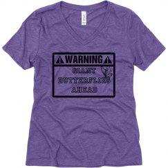 Warning: Giant Butterflies Ahead Shirt