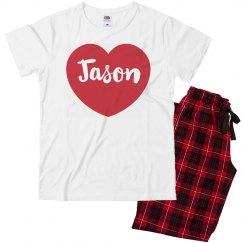 Personalized Valentine's Day PJ Set