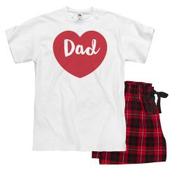 Matching Valentine PJs For Family