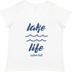Lake Life Custom Plus Vacation Tee
