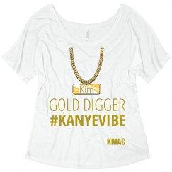 Kanye Gold Digger Ladies Tshirt