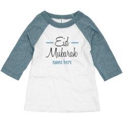 Eid Mubarak Custom Toddler Raglan
