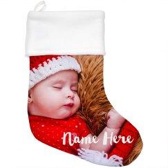 Custom Photo Christmas Stocking