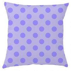 Purple Polka Dot Throw Pillow Cover