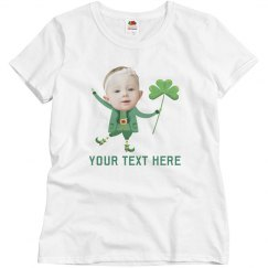 Custom Baby Photo Leprechaun Tee