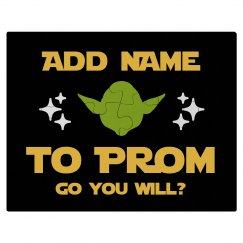 Nerdy Yoda Star Promposal Custom