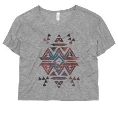 Trendy Geometric Aztec Galaxy Flowy