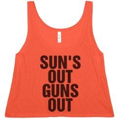 Sun's Out Guns Out Crop