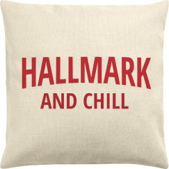 Funny Hallmark & Chill Christmas Pillowcase