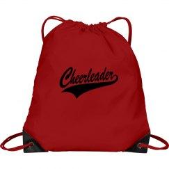 Red cheerleader bag