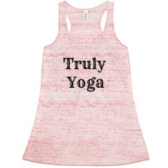 Truly Yoga Red/ White Racerback