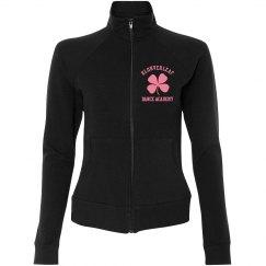 Women's zip up cotton jacket in black
