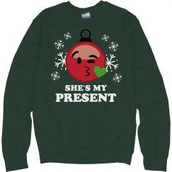 She's My Christmas Present Emoji