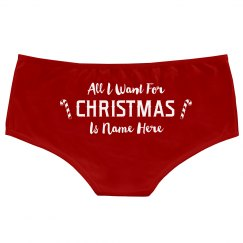 Cute Sexy Add Name Christmas Undies
