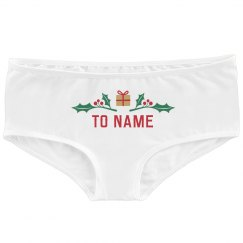 Name's Gift Cute Christmas Undies