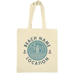 Custom Lighthouse Beach Tote Bag