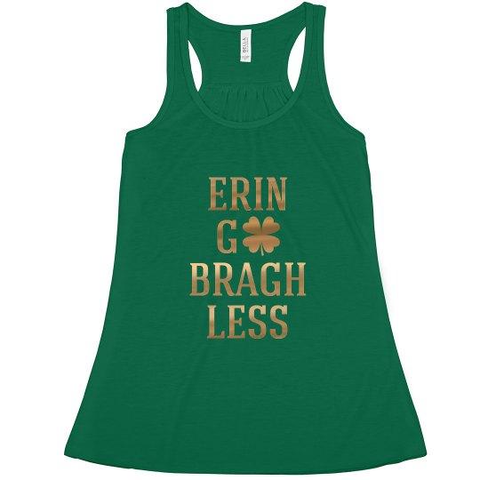 e82a29b7f0cb30 Erin Go Bragh Less Ladies Flowy Metallic Racerback Tank Top