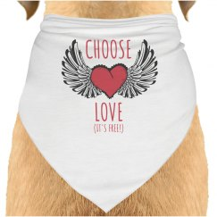 Choose Love Dog Bandana