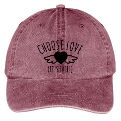 Choose Love Baseball Hat