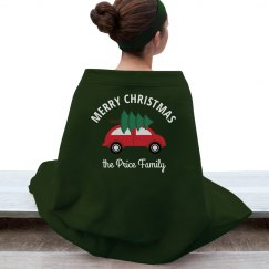 Merry Christmas Custom Family Xmas Blanket