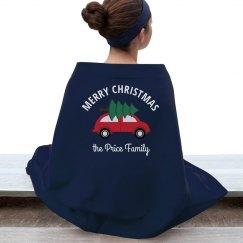 Merry Christmas Custom Family Xmas Blanket
