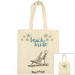Beach Bride Large Tote
