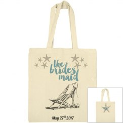 Beach Bridesmaid Large Tote