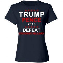 Trump Pence Crooked Hillary