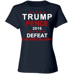 Trump Pence Crooked Hillary