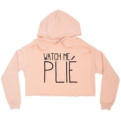 Cropped Sweatshirt - Black font