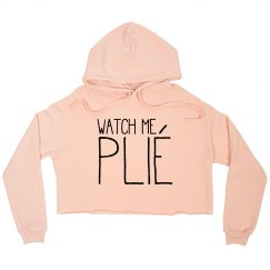 Cropped Sweatshirt - Black font