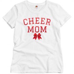 Rose Gold Metallic Cheer Mom